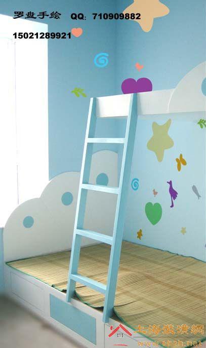 手绘儿童卧室墙画