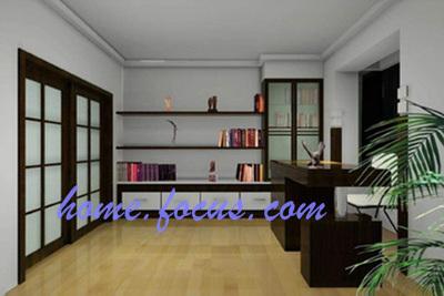 阁楼书房装修图片