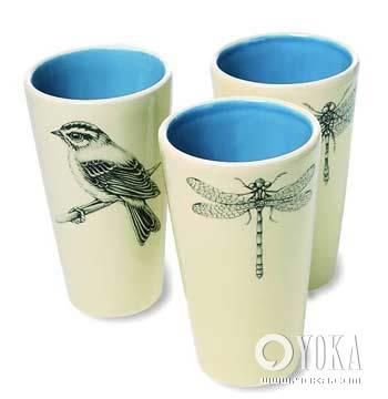 素描瓷器杯子结构图