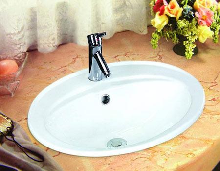 洗手间面盆安装图解