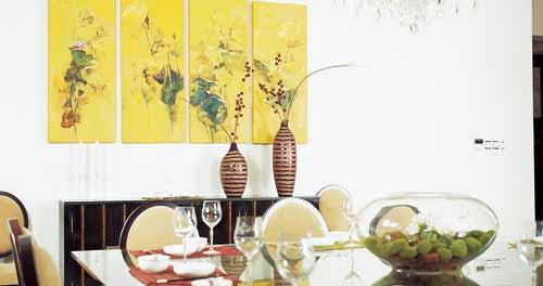 家庭餐厅墙面手绘素材