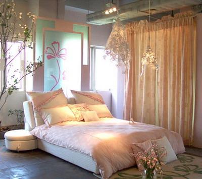 房间设计图卧室摆花