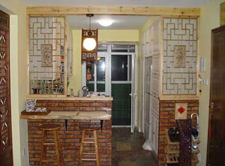 旧木板吧台装修效果图