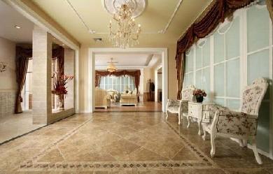装修学堂 选材常识 瓷砖地砖 正文   地面由单调的几何线条变得丰富有