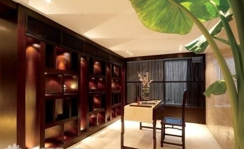 中式书房装修布置-上海装潢网