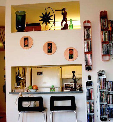 边框简笔画彩色厨房