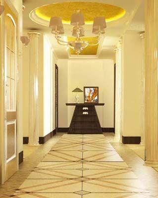 玄关天花板设计-上海装潢网