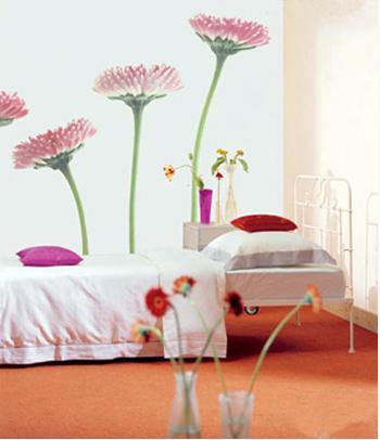 葡萄,牵牛花,紫藤,蔷薇等攀援植物,让它们顺墙或顺架攀附,形成一个