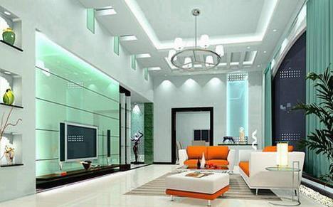 家居室内装修设计效果图_10084图_况艺装修图片; 时尚客厅装修设计图