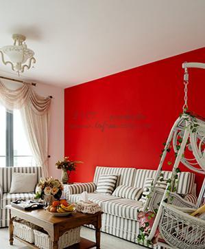 红色地板砖室内装修
