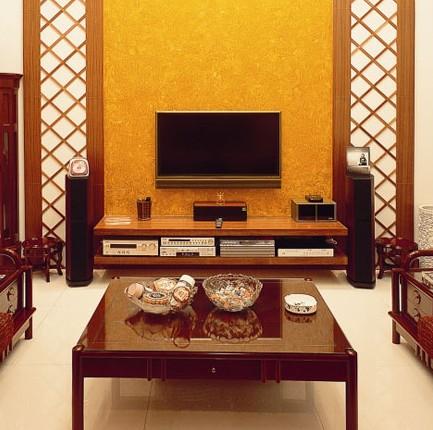 中式风格辅以日式情调 复式房的华贵尽收眼底