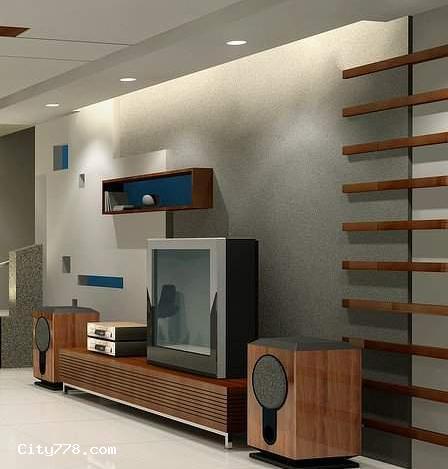 电视墙通常是为了弥补客厅中电视机背景墙面的空旷