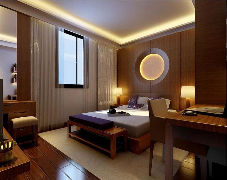 装修学堂 装修设计 装修风格 中式风格 正文  原木色的卧室提升了整个