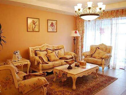 白色家具搭出欧式田园风格温馨家