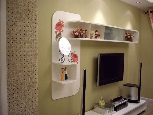 客厅电视背景墙面装饰设计-上海装潢网