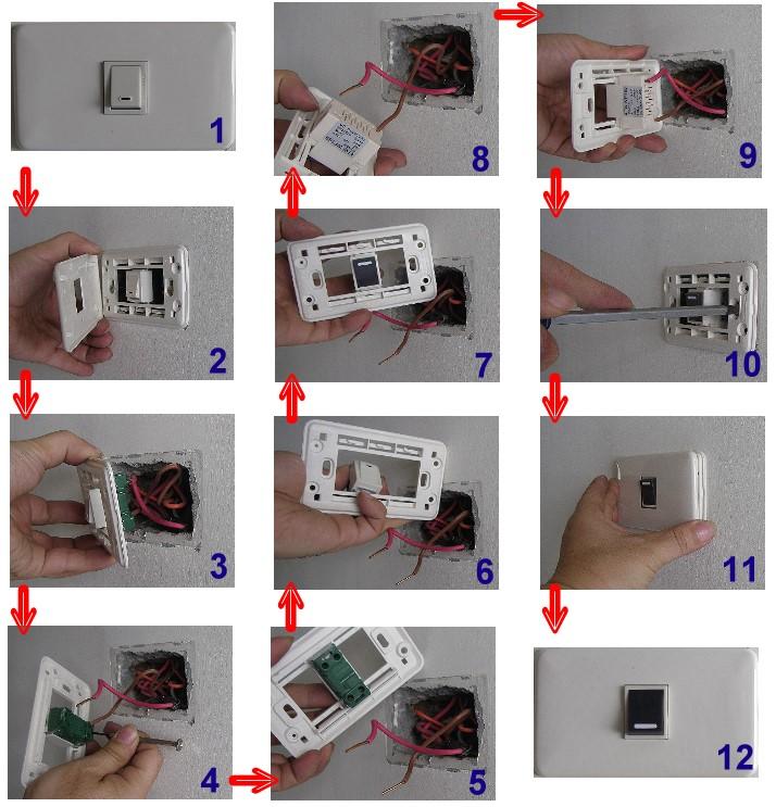 开关和插座需安装牢固,盖板不但要端正,而且表面要清洁,紧贴墙面,四周
