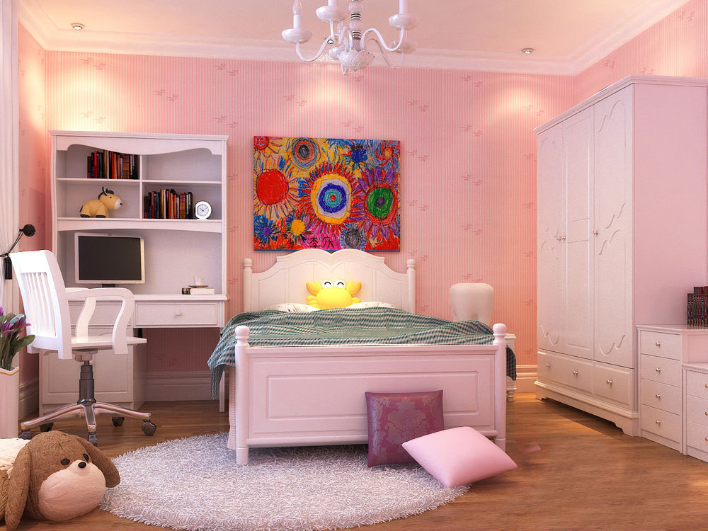 粉色系列可爱公主儿童房