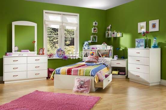 童話世界蘋果綠系列兒童房裝修效果圖,綠色清晰,如果您需要裝修兒童房