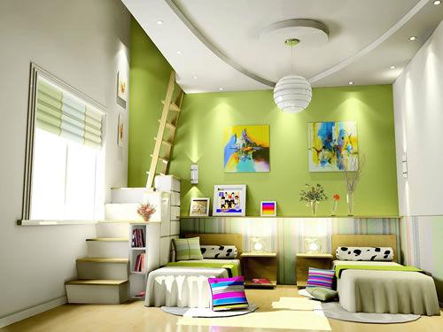 14款個性蘋果綠系列兒童房裝修效果圖