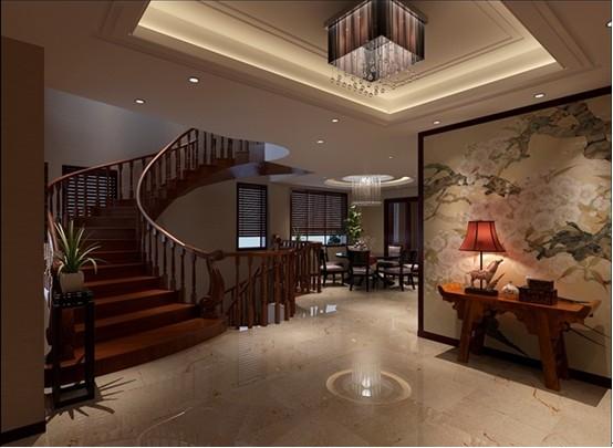 幼儿园楼梯墙面装饰中国风