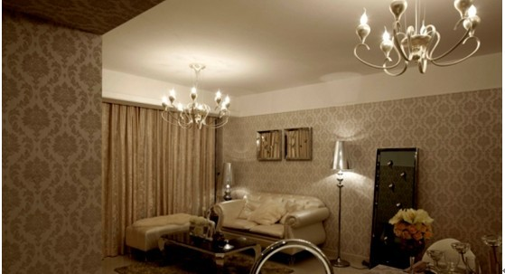 室内的硬件方面以高品质的浅色墙纸和米黄色大理石为主,配合原本良好