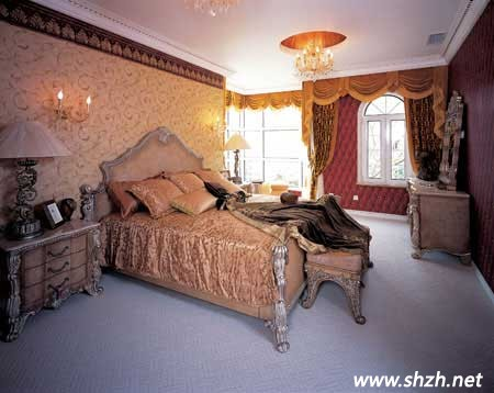欧式奢华超大卧室