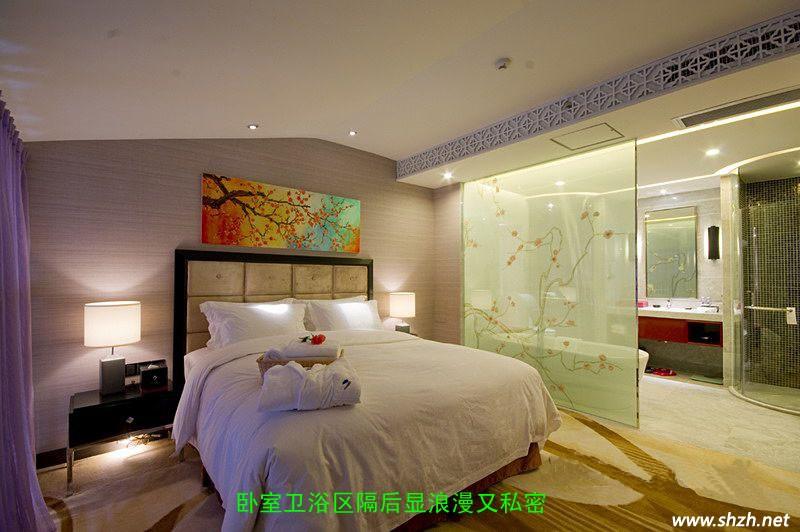 客厅及卫浴中的玻璃装饰隔断赏析