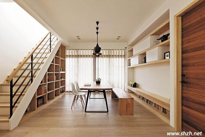 整整齐齐的排放让这个温暖柔和的日式家居瞬间有了