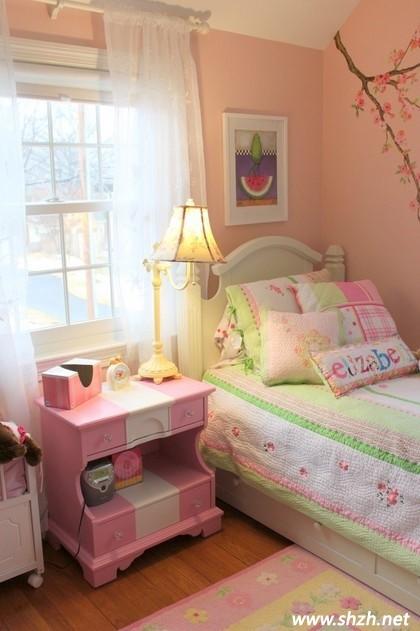 儿童房装修案例之粉色系的女孩房