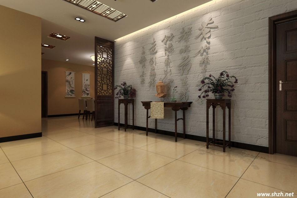 新中式餐饮空间手绘墙