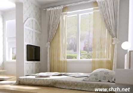 卧室与地台结合的创新惬意设计
