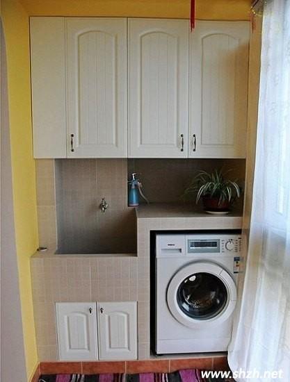 小户型阳台大改造 书房or洗衣房?