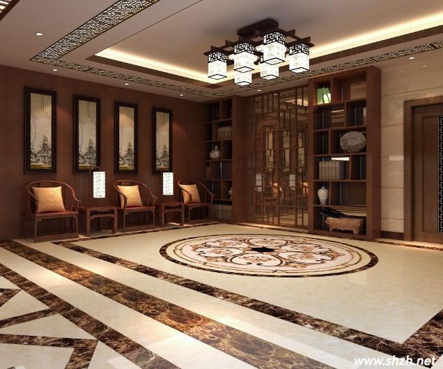 从陶瓷品位搭配到新中式风格的完美结合; 新中式地面拼花; 图片