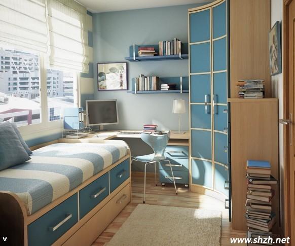 欧式装潢男生卧室