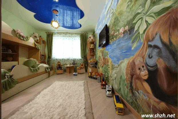儿童房装修出奇制胜 美轮美奂的墙体彩绘