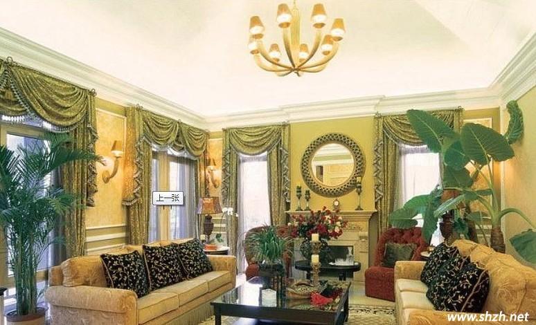 客厅设计,别具异国风情的感觉,没有欧式的亮丽堂皇,但它不失高雅。双排沙发以素雅温馨的黄色为主调,露出古典的高贵气质,两者相互对应,给整个客厅提升了不少美感。其美式风格的装饰最注重的还是家具,并不是说家具有多么的昂贵,只是要经得住时间的考验。给人印象最深的还是属那几盆绿植,仿佛置身于热带大森林中。