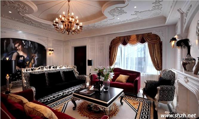 纯欧式的奢华别墅客厅