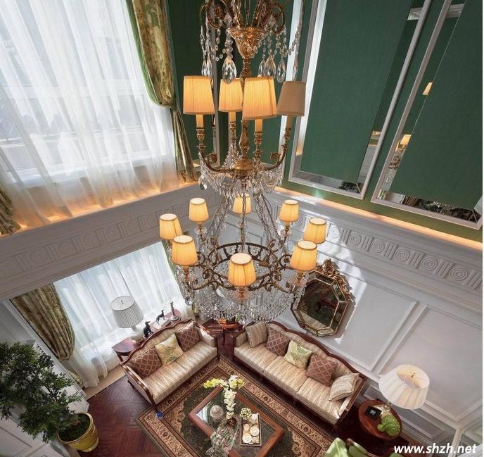 欧式风格的跃层别墅设计 淡雅的绿色装饰出风采