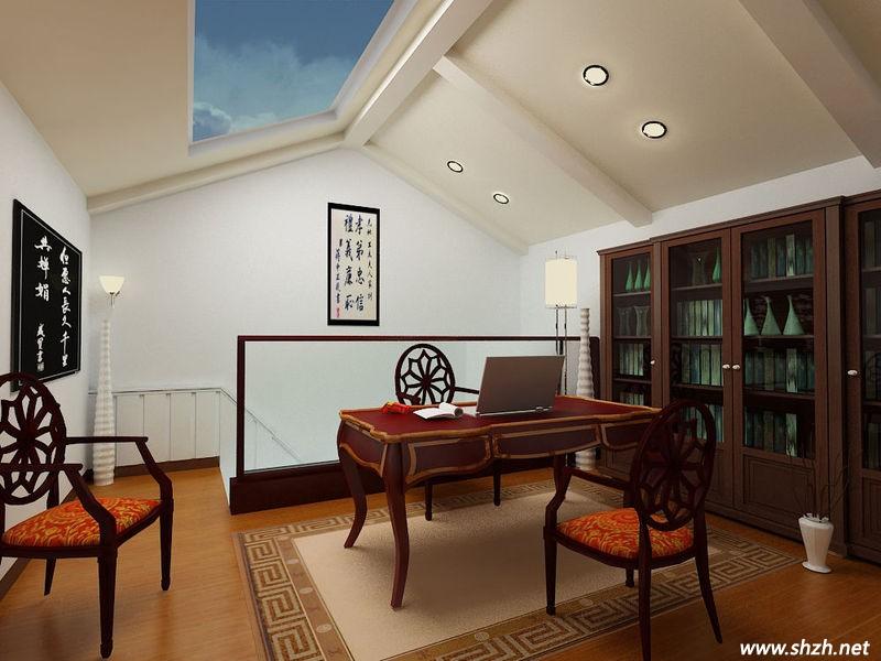 别墅欧式书房会客厅