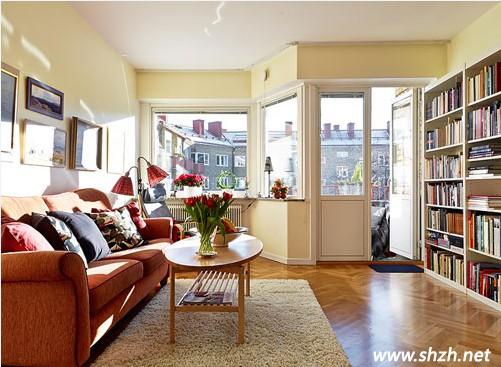 简约的北欧风公寓设计 拼花地板演绎的自然清新
