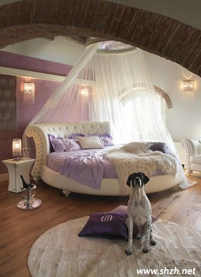 紫色系公主风卧室装修