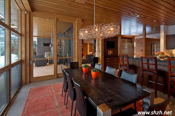美式乡村风格别墅餐厅装修