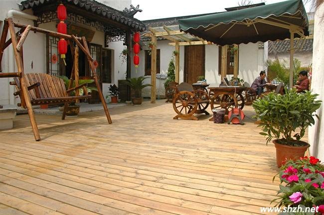 江南风格庭院房屋风景