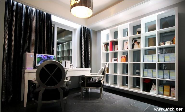 现代书房整体书柜装修效果图大全2013图片 高清图片