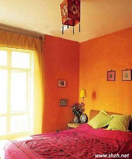 橙色 卧室装修图