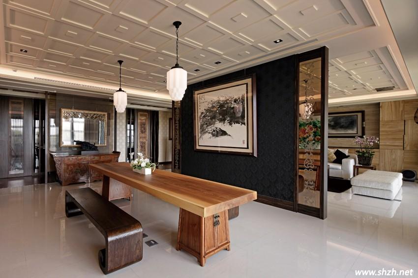 """雅致新中式两居室仅13万装修费 打破""""天价""""老中国风图片"""