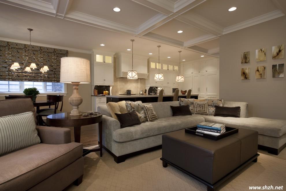 """安全性""""让它成为客厅装修色彩的永恒流行色,但是随着米色大范围的铺陈"""