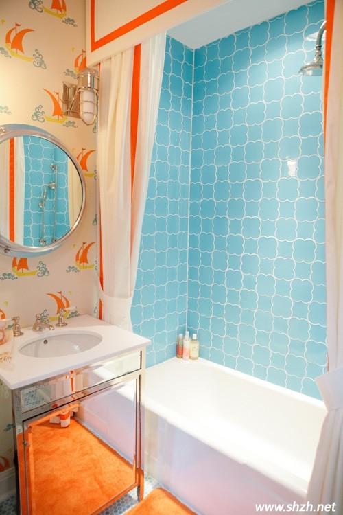 橙蓝卫生间