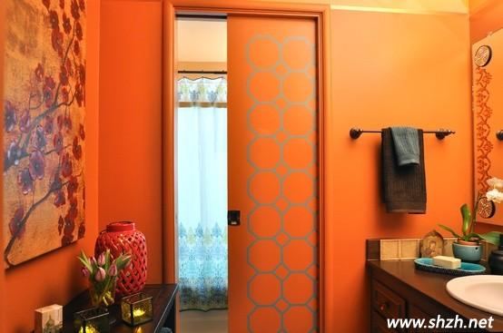 橙色卫生间装修