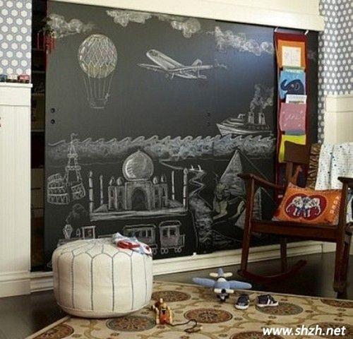 儿童房黑板墙